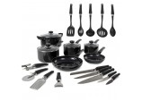 6 Piece Pan Set Black