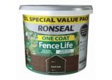 One Coat Fence Life 12L - Dark Oak