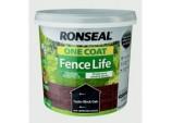 One Coat Fence Life 5L - Tudor Black Oak