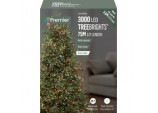 3000 LED Multi Action Treebrights With Timer - Multi Coloured
