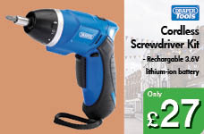 Cordless Screwdriver Kit – Now Only £27.00