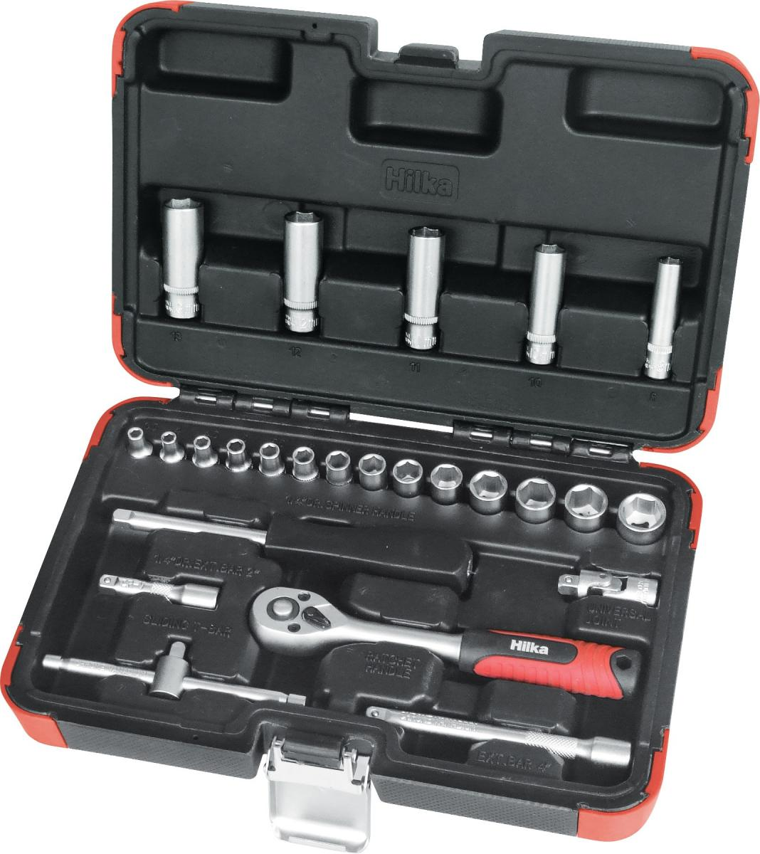 """25 piece 1/4"""" Drive Socket Set Metric Pro Craft – Now Only £16.00"""