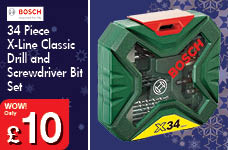 34 Piece X-Line Classic Drill and Screwdriver Bit Set – Now Only £10.00