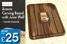 Acacia Carving Board with Juice Well – Now Only £25.00