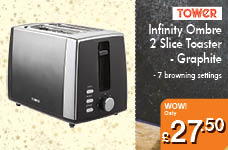 Infinity Ombre 2 Slice Toaster - Graphite – Now Only £27.50