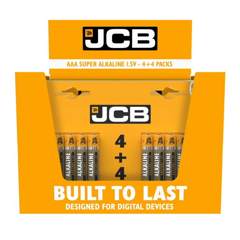 Super Alkaline Batteries AAA - Pack of 4 + 4 FREE – Now Only £3.00