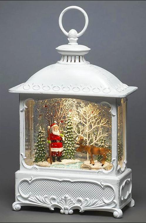 Santa & Moose Scene Water Lantern – Now Only £28.00
