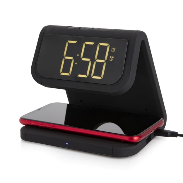 Alarm Clock with Wireless Charger - Black – Now Only £25.00