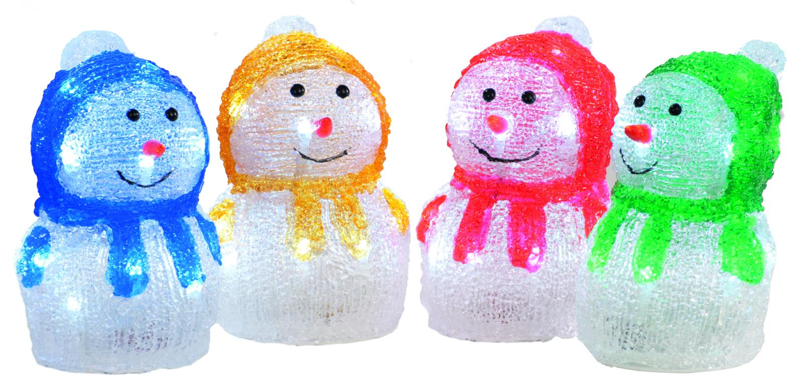 Assorted Acrylic Snowman  – Now Only £7.00