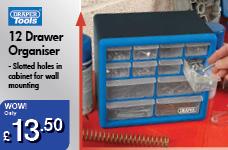 12 Drawer Organiser  – Now Only £13.50