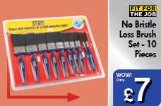 No Bristle Loss Brush Set - 10 Pieces – Now Only £7.00