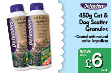 450g Cat & Dog Scatter Granules – Now Only £6.00