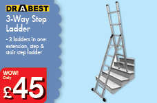 3-Way Step Ladder – Now Only £45.00