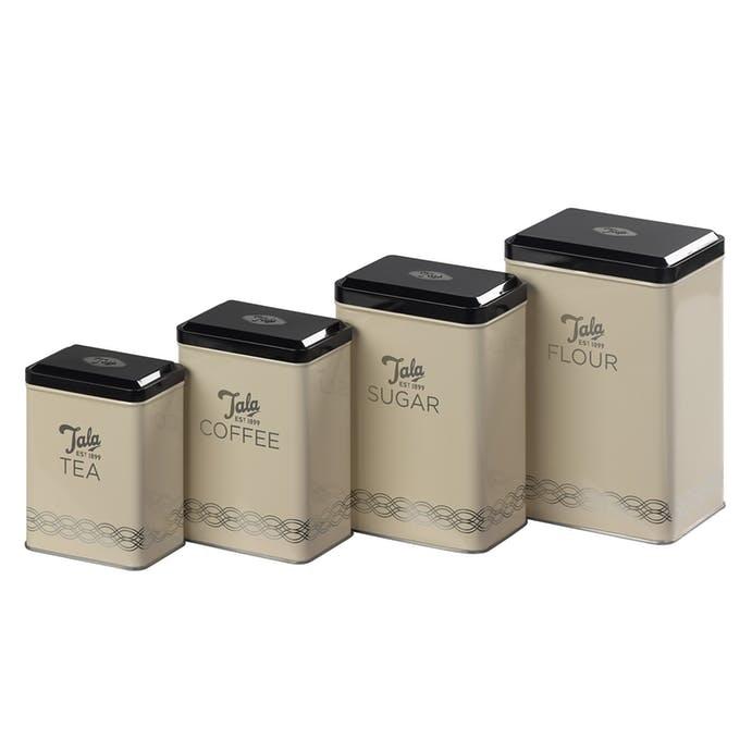 Kitchen Storage Tins - Set of 4 – Now Only £14.00