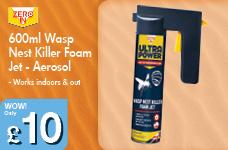 600ml Wasp  Nest Killer Foam Jet - Aerosol – Now Only £10.00