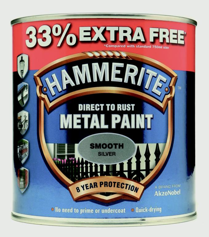 Metal Paint Smooth 750ml + 33% Free - Silver – Now Only £17.00