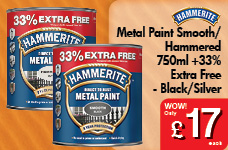 Metal Paint Hammered 750ml + 33% Free  -  – Now Only £17.00