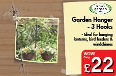 Garden Hanger - 3 Hooks – Now Only £22.00