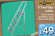 5 Tread Step Ladder – Now Only £49.00