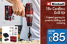18v Cordless Drill Kit – Now Only £85.00