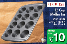 12 Cup Muffin Tin – Now Only £10.00