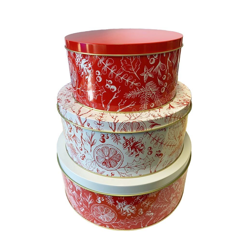Christmas Cake Tin - Set of 3 – Now Only £15.00
