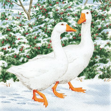 Geese Couple Napkins – Now Only £3.50