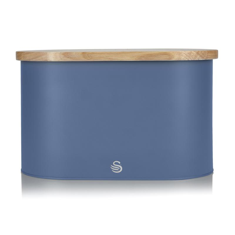 Oval Bread Bin with Cutting Board Lid- Blue – Now Only £32.00