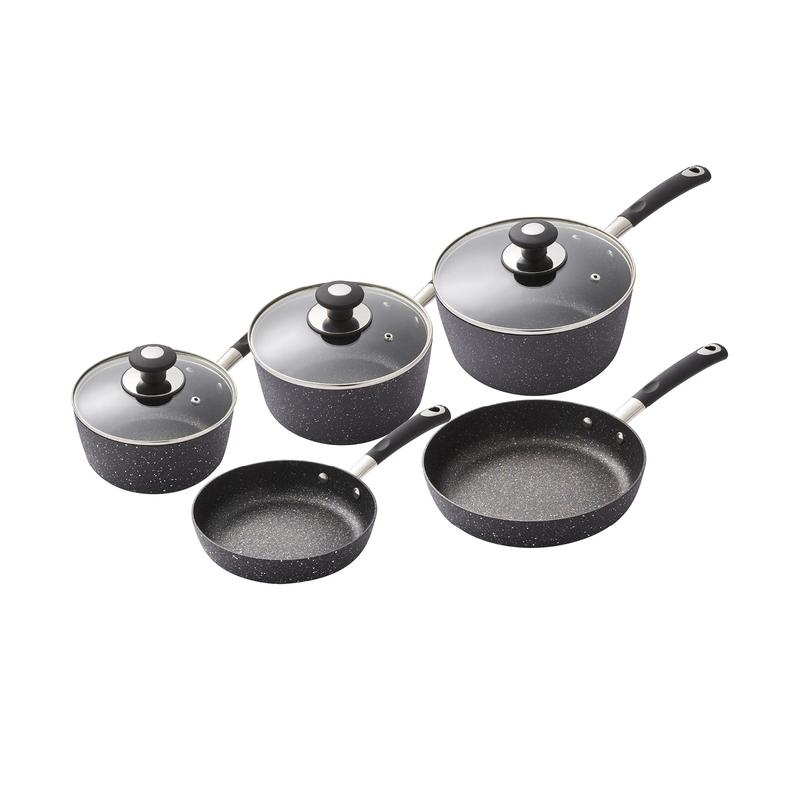 5 Piece Precision Non-Stick Pan Set - Black – Now Only £85.00